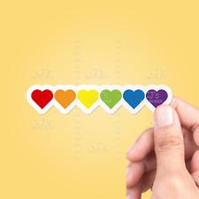 Pride Hearts Sticker - Laptop Sticker Car Sticker