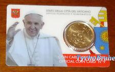 COIN CARD 2018 VATICANO 50 cent COAT OF ARMS Coincard - STEMMA BLASON VATICAN BU