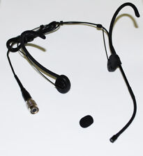Omnidirectional Foldable earhook Headset Microphone for Audio Technica Black