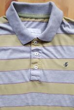JACK WILLS Men's Grey Yellow Polo Shirt Casual SMALL