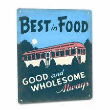 Retro Railcar Diner Sign Best Food Greasy Spoon Cafe Restaurant Burgers Shakes