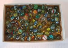 Marbles Cats Eye Multi Size Blue, Green, Clear Glass Vintage 1 Lb Bag