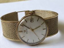 Vintage Rare Gents Omega 9k Solid Gold Automatic Working Mens Swiss watch