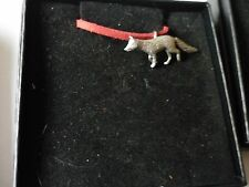 """Fox codea23 Made From Fine English Pewter On a 18"""" Red Cord Necklace"""