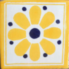 #C098) Mexican Tile sample Ceramic Handmade 4x4 inch, GET MANY AS YOU NEED !!