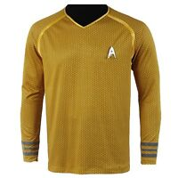 Star Trek Into Darkness Starfleet Kirk Spock Costume Suit Shirt Uniform Yellow