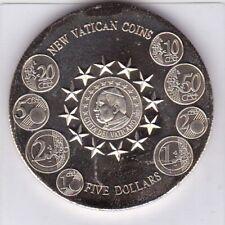 5 Dollars Liberia 2004 PP Vatikan Münzen new Vatican coins