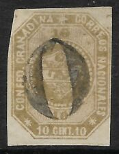More details for stamps-colombia. 1859. 10c olive brown. stone a. 4 margins. fine used. scarce.