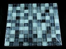 6 Elida Mosaic Dark Nights Chiglaxht307 Metal & Black to Clear Glass Pebble