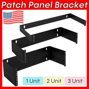 "1U 2U 3U Patch Panel Wall Mount Bracket 19"" Equipment Rack Cat5e Cat6 19 inch"