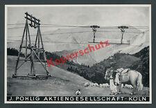Pohlig Drahtseilbahn Köln Maschinenbau Transport Alpen Bergbauer Haflinger 1939