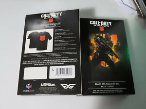 (Set of 2 boxes) - Black Ops Pass Gift Box With T-Shirt L 100% Cotton Brand New