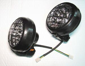 LED 2 x Headlights for Yamaha Banshee 1987-2006 lens bulbs grills Warrior 350