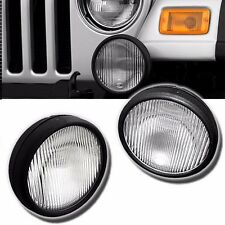 FL7091 For 03-06 Jeep Wrangler Pair Driving Fog Lights Bumper Lamps