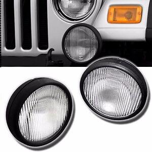 FL7091 For 03-06 Jeep Wrangler Pair Driving Fog Lights Bumper Lamps
