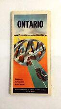 1955-1956 Vintage Ontario AAA Road Map