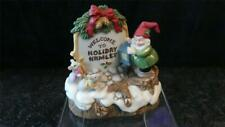 Fitz and Floyd Holiday Hamlet 1993 Enchanted Forest Village Sign