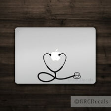 Stethoscope - Mac Apple Logo Laptop Vinyl Decal Sticker Macbook Nurse Doctor RN