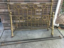 Vintage antique 1900s Brass twin bed Frame