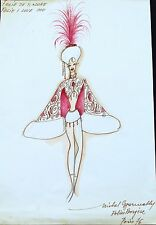 FOLIES BERGÈRE Costume WATERCOLOR SIGNED by  MICHEL GYARMATHY lot 1