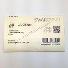 1440 Swarovski 2058 6ss flatbacks rhinestones nail art ss6 CRYSTAL AB (001 AB)