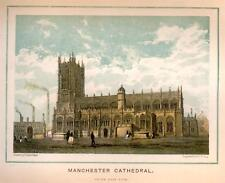 MANCHESTER CATHEDRAL EXTERIOR -1880- South Eastern View