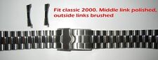 20 mm Watch Polished-Brushed Link Style Band Fit Heuer WK1113 WK1110 WK111A etc