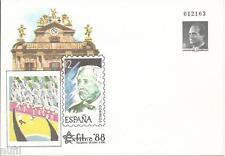 Sobre Entero Postal Edifil # 10B Pamplona Exfilna 88