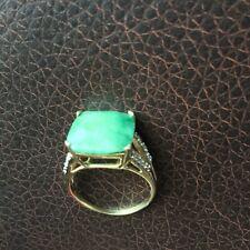 Natural emerald diamonds 10k gold ring