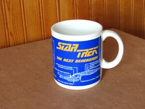 """STAR TREK PFALTZGRAFF 1994 """"U.S.S. ENTERPRISE NCC-1701-D MUG New"""