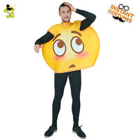 Hot Emoji Costume Adult Unisex Oops Emoticon Costumes Funny Party Fancy Dress
