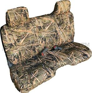 A25 MD Compact Truck XCab RCab Small Notched Cushion Bench Muddy Camo Seat Cover