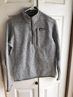 Men's Patagonia Better Sweater Grey Sherpa Half Zip Sweater Pullover Size XS