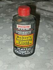 A Vintage 70's Transitional 113ml/4fl oz  Bakers Soldering Fluid Plastic Bottle