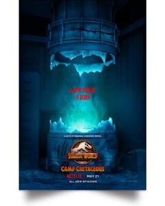 Jurassic World- Camp Cretaceous Prints Wall Art Decor Home Poster Full Size
