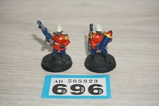 Warhammer 40k Imperial Guard Praetorian Mortar Crew Team - Metal LOT 696