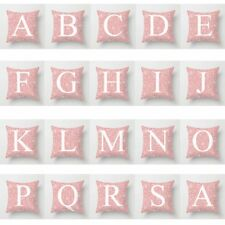 "18"" Pink Letter Polyester Pillow Case Cushion Cover Throw Home Sofa Car Decor"