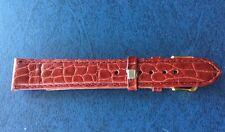 Bracelet De Montre GENUINE LEATHER ,18 mm ,Bordeaux