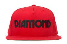 Diamond Supply Co Caroline Snapback in Red OSFA NWT