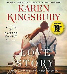 Karen Kingsbury LOVE STORY (Baxters) Unabridged CD *NEW* FREE Shipping!