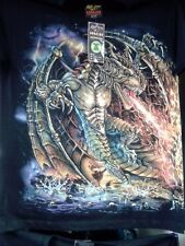 T-Shirt Drache XL ,Dragon Feuer Gothic Dark Rock Fantasie Skul SUPER GLOW NEU !
