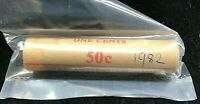 1982 Australia One Cent 1c UNC Royal Australian Mint Roll of 50 coins H/H