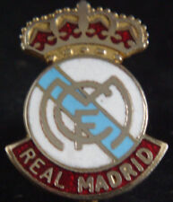 REAL MADRID Vintage Club crest badge Maker COFFERLONDON Brooch pin 20mm x 27mm