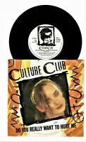 "CULTURE CLUB BOY GEORGE Do You Really Want To Hurt Me 45rpm 7"" Vinyl Single JA"