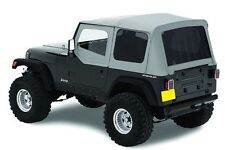 1987-1995 Jeep Wrangler Replacement Soft Top w Upper Doors & Tinted Windows Gray