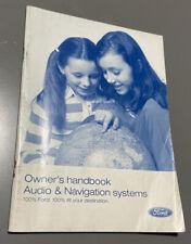 FORD SAT NAV NAVIGATION AUDIO SYSTEM OWNERS HANDBOOK MANUAL TRAVELPILOT DX EX