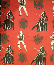Star Wars Full Flat Sheet Red Microfiber Kylo Ren Stormtroopers EUC