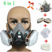 3M 7502/6200Dust Paint Mask Half Face Respirator Filter Spray Protect Smoke Gas
