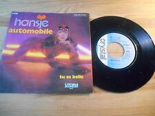 """7"""" POP Hansje-autombile/fallo BELLE CRYSTAL/utopia + Jukebox CARD"""