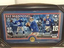 Eli Manning Marquee in Gold Coin Frame Limited Edition Of 5000 New York Giants